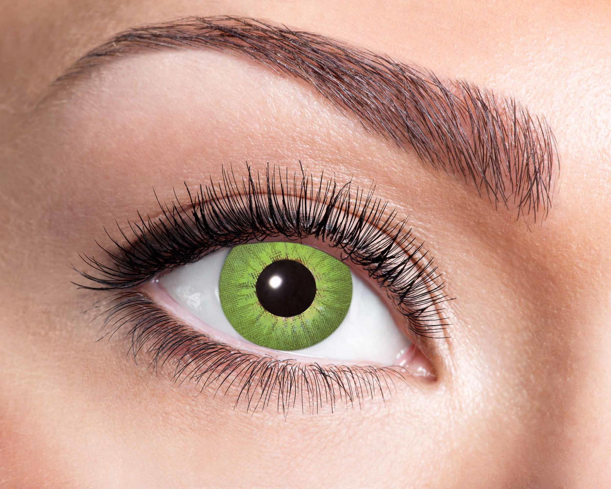 Färgade linser Electro Green