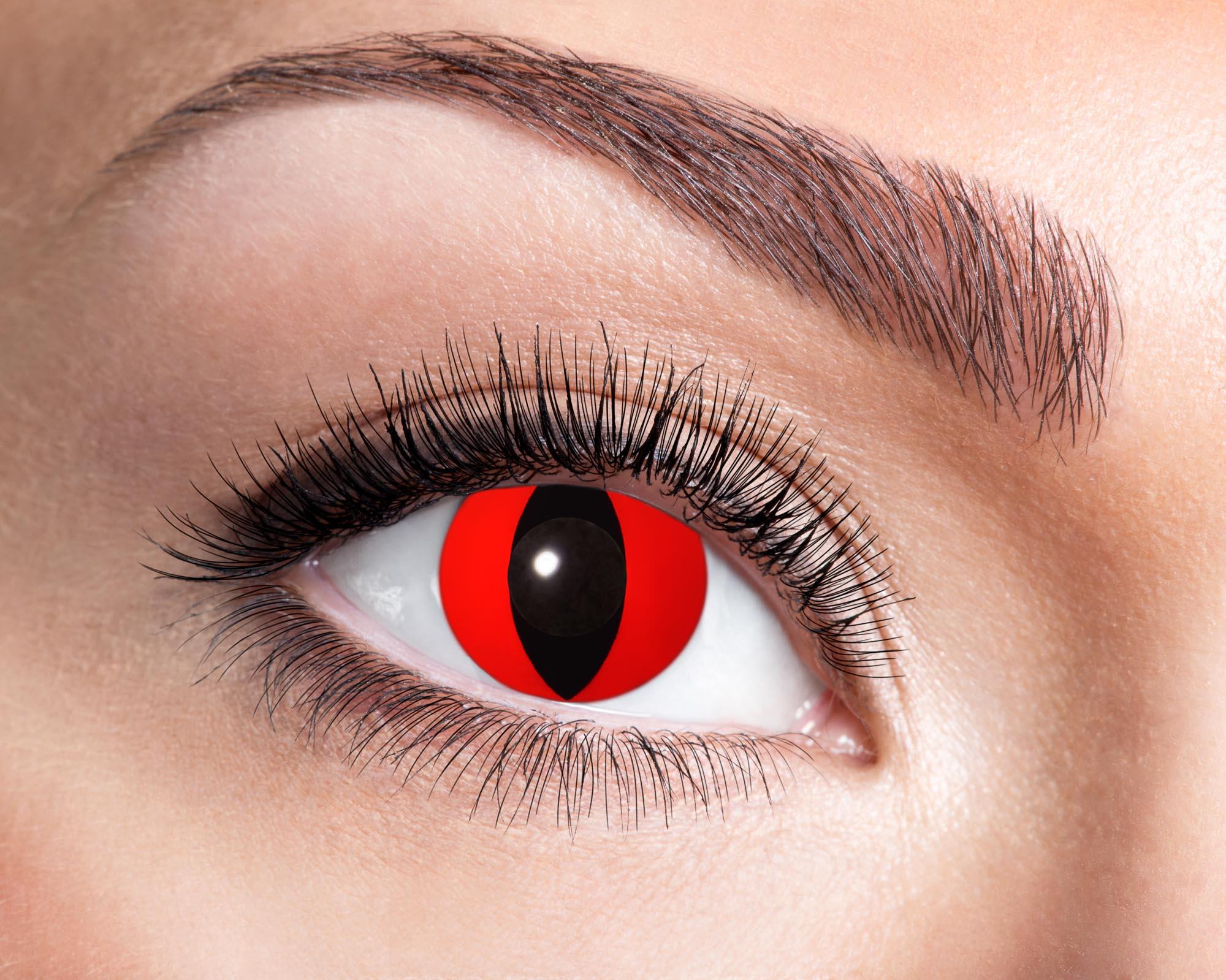 Färgade linser Red Cat