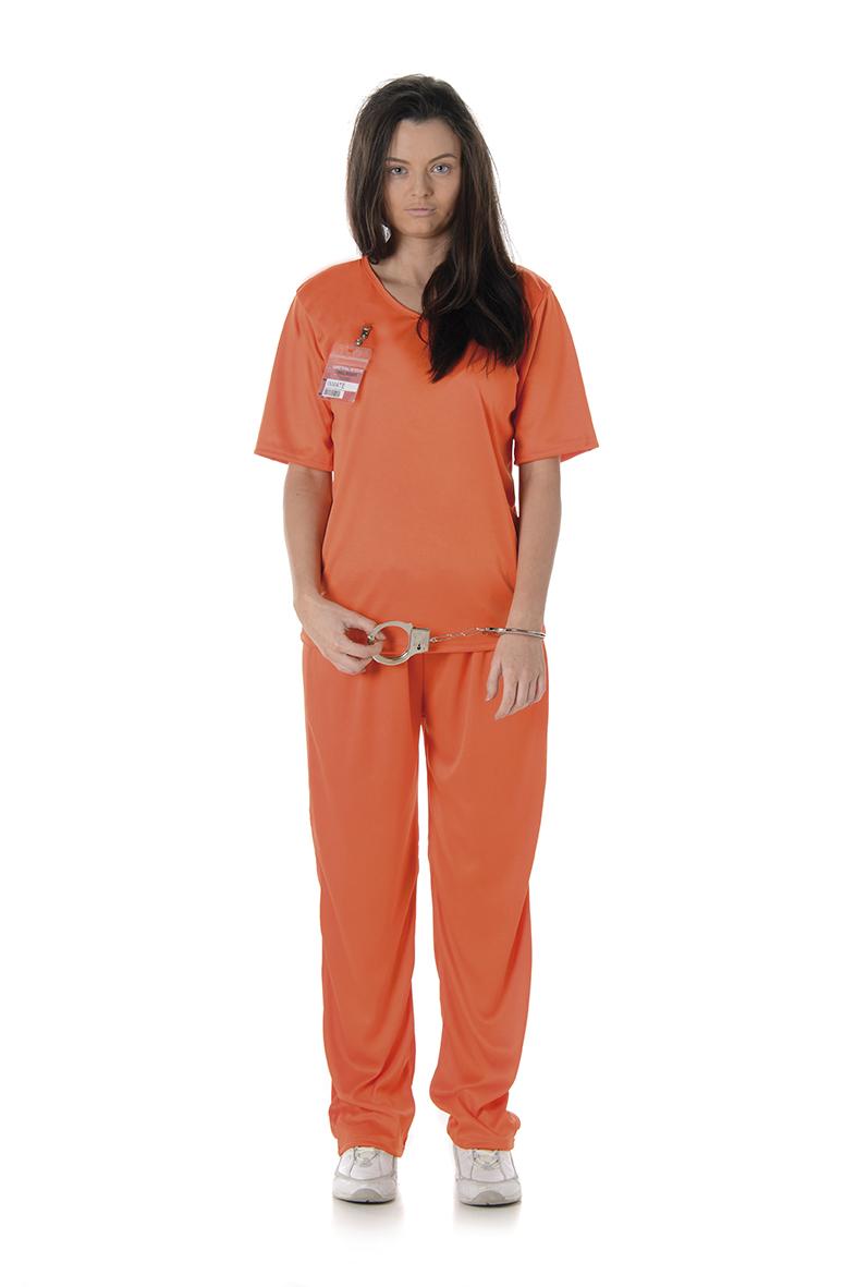 Maskeradkläder Vuxna - Kvinnlig Fånge Maskeraddräkt Orange