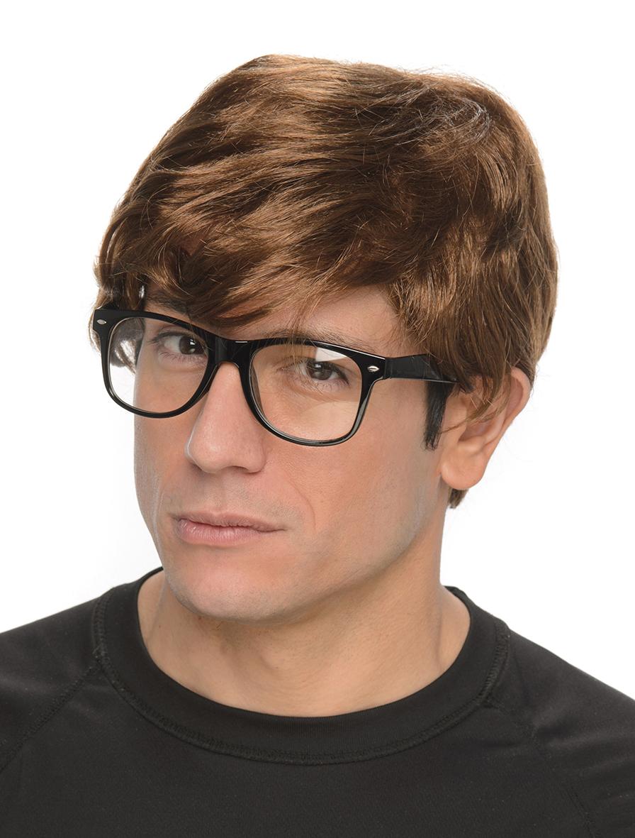 Peruk Med Glasögon Hemlig Agent