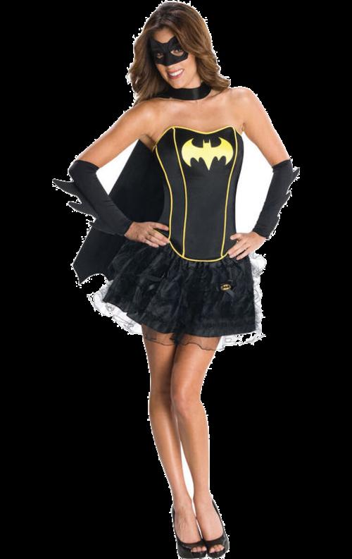Batgirl Korsett Maskeraddräkt