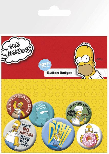 the Simpsons knappar 6-pack Homer thumbnail