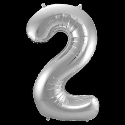 Jumbo Sifferballong Silver 2