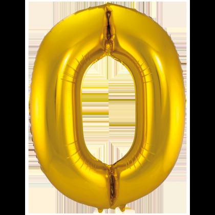 Jumbo Sifferballong Guld 0
