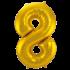 Jumbo Sifferballong Guld 8