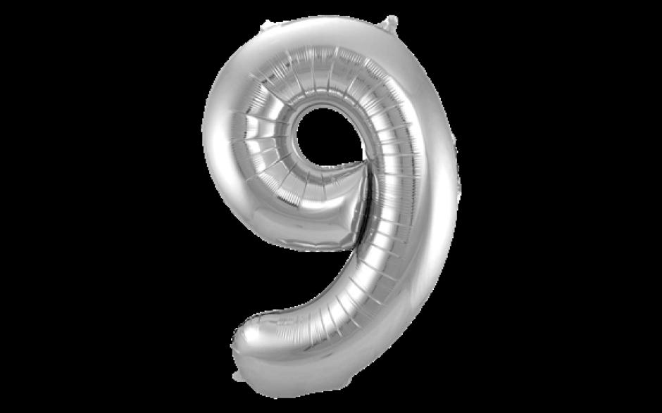 Jumbo Sifferballong Silver 9