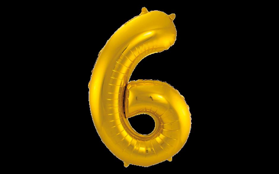 Jumbo Sifferballong Guld 6