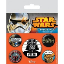 Star Wars Knappar Old School 5-pack