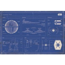 STAR WARS - IMPERIAL FLEET BLUEPRINT AFFISCH
