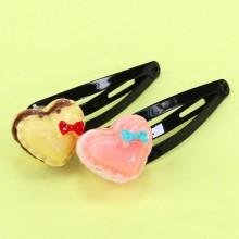 Hårklämma Macaron 2st