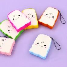 Färgade Toast Kawaii  Mobilsmycke