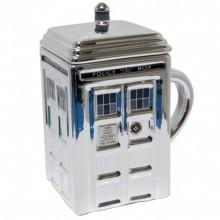 Doctor Who Tardis Silver Mugg Med Lock