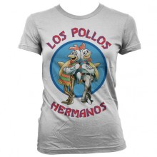 Breaking Bad Los Pollos Hermanos Dam T-Shirt Vit