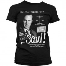 Breaking Bad Better Call Saul Dam T-Shirt Svart