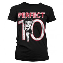 Betty Boop Perfect 10 Girly T-Shirt Svart
