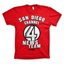 San Diego Channel 4 T-Shirt Röd