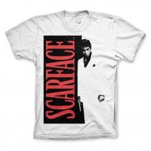 Scarface Poster T-Shirt Vit