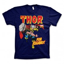 The Mighty Thor - For Asgard! T-Shirt Blå