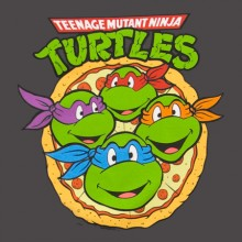 Turtles Pizza Face T-Shirt