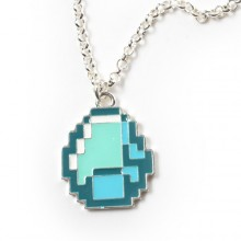 Minecraft Diamond Pendant Halsband