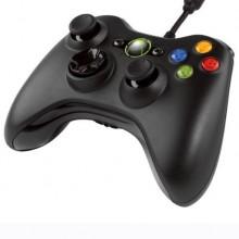 Xbox 360 Handkontroll (Wired Controller) - Svart / Black