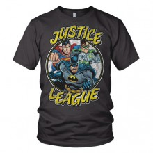 Justice League Team - Mörkgrå T-Shirt