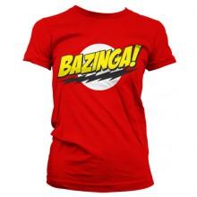Bazinga Super Logo Tjejtröja