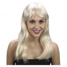 Peruk Blond Vågig