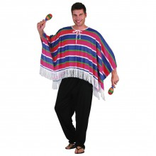 Maskeraddräkt Mexikansk Poncho