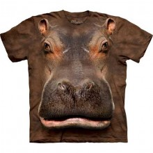 Hippo Head Big Face T-shirt