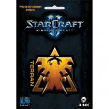 Starcraft  II Terran Klistermärke 2-pack
