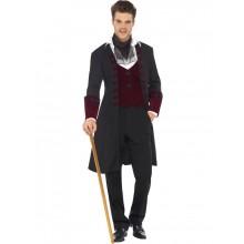 Manlig Sexig Gothisk Vampyrkostym