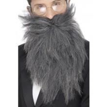 Långt Skägg Med Mustasch Grå