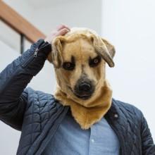 Mask Med Rörlig Mun Hund
