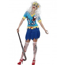 Zombie Landhockey Spelare Maskeraddräkt