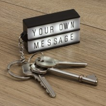 Lysande Meddelandetavla Nyckelring