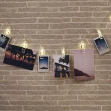 Ljusslinga Med Fotohållare
