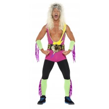 Retro Wrestler Maskeraddräkt
