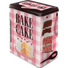 Plåtburk Retro Bake A Cake