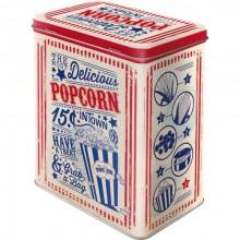Plåtburk Retro Popcorn
