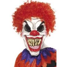 Läskig Clown Mask med Hår