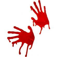 Halloweendekoration Blodiga händer Fönsterdekoration
