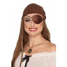 Ögonlapp Pirat Satin Brun