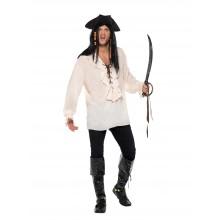 Piratskjorta Vit
