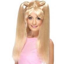 Peruk Blond Flätor 90-tal