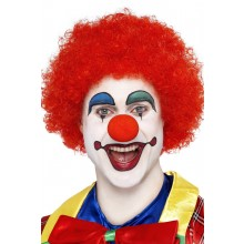 Peruk Galen Clown Röd