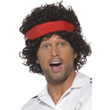 80-tals Peruk Tennisspelare