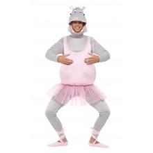 Ballerina Flodhäst Maskeraddräkt