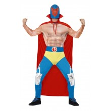 Mexikansk Wrestler Maskeraddräkt