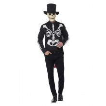 Day of the Dead Skelett Kostym och Hatt